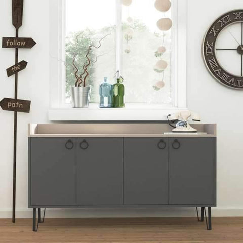 Beatrix Sideboard-A.Grey-L.Mocha-Modern Furniture Deals