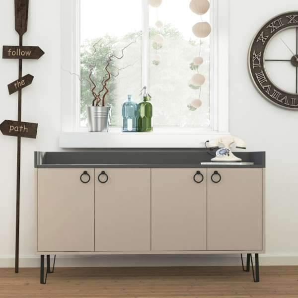 Beatrix Sideboard-L.Mocha-A.Grey-Modern Furniture Deals