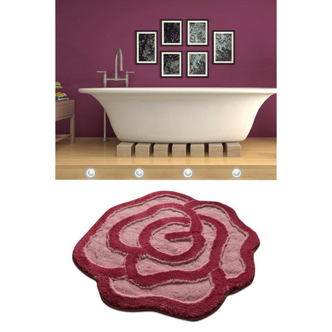 Big Rose - Fuchsia Bath Mat-Bath Mat-[sale]-[design]-[modern]-Modern Furniture Deals