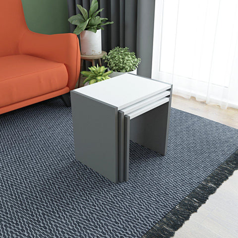 BION Nesting Tables - Anthracite - White - Anthracite-FURNITURE>LIVING ROOM TABLES>COFFEE TABLES-[sale]-[design]-[modern]-Modern Furniture Deals