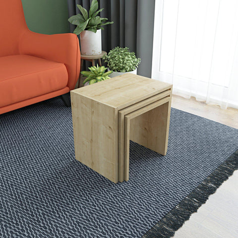 BION Nesting Tables - Oak - Oak - Oak-FURNITURE>LIVING ROOM TABLES>COFFEE TABLES-[sale]-[design]-[modern]-Modern Furniture Deals