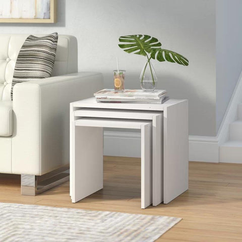 BION Nesting Tables - White - White - White-FURNITURE>LIVING ROOM TABLES>COFFEE TABLES-[sale]-[design]-[modern]-Modern Furniture Deals
