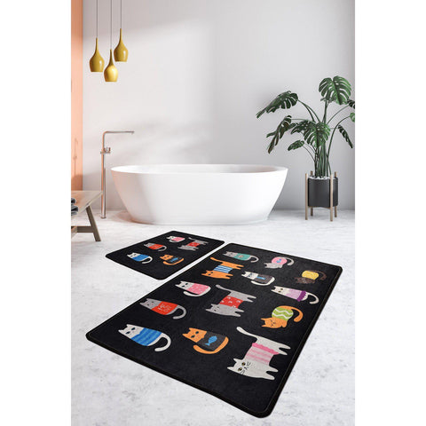 Black Cats Bath Mat-Bath Mat-[sale]-[design]-[modern]-Modern Furniture Deals
