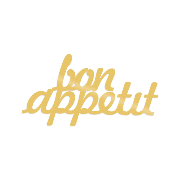 BON APPETIT 1 - GOLD Wall Art-Metal Wall Art-[sale]-[design]-[modern]-Modern Furniture Deals
