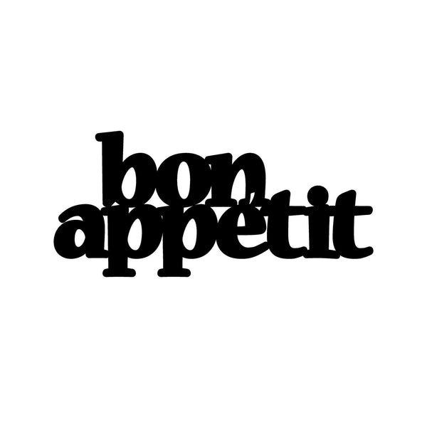 BON APPETIT 2 - BLACK Wall Art-Metal Wall Art-[sale]-[design]-[modern]-Modern Furniture Deals