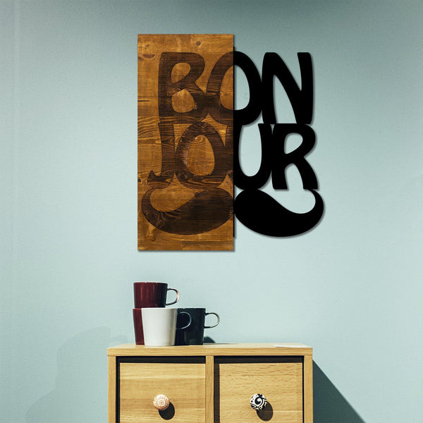 Bonjour Wall Art-Metal Wall Art-[sale]-[design]-[modern]-Modern Furniture Deals