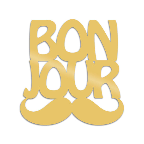 BONJUR - GOLD Wall Art-Metal Wall Art-[sale]-[design]-[modern]-Modern Furniture Deals