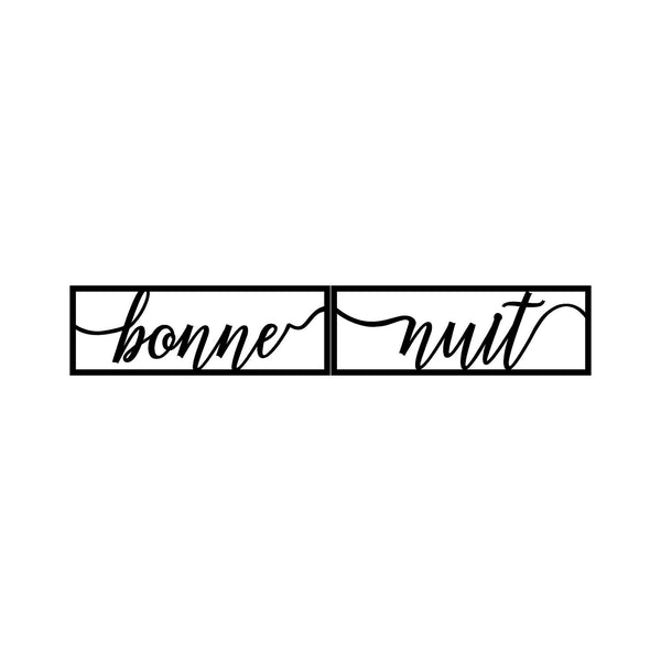BONNE NUIT 1 - BLACK Wall Art-Metal Wall Art-[sale]-[design]-[modern]-Modern Furniture Deals