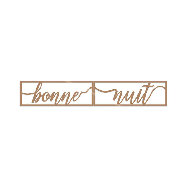 BONNE NUIT 1 - COPPER Wall Art-Metal Wall Art-[sale]-[design]-[modern]-Modern Furniture Deals