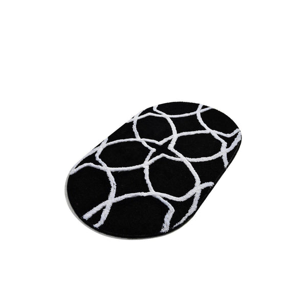 Bonne Oval - Black 3 Bath Mat-Bath Mat-[sale]-[design]-[modern]-Modern Furniture Deals