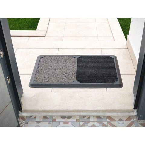 B'Safe Duo - Grey-HOME TEXTILE>DOOR MAT-[sale]-[design]-[modern]-Modern Furniture Deals