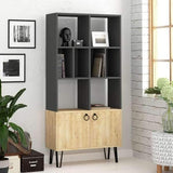Bueno Bookcase-Grey-Oak-Modern Furniture Deals