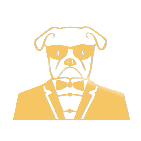 BULLDOG METAL DECOR - GOLD Wall Art-Metal Wall Art-[sale]-[design]-[modern]-Modern Furniture Deals