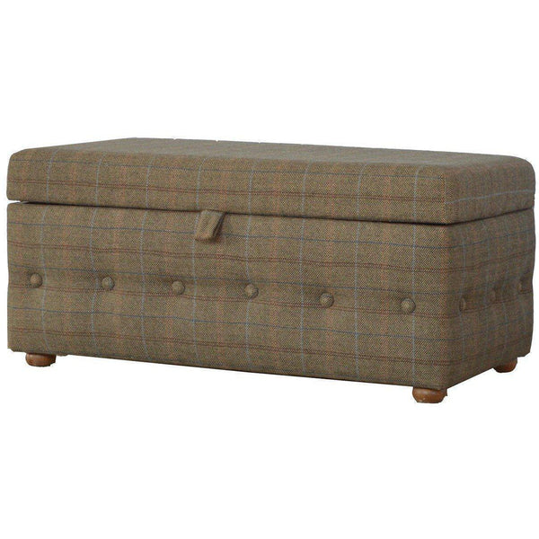 Buttoned Storage Footstool-Modern Furniture Deals