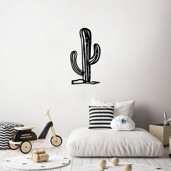 CACTUS2 - BLACK Wall Art-Metal Wall Art-[sale]-[design]-[modern]-Modern Furniture Deals