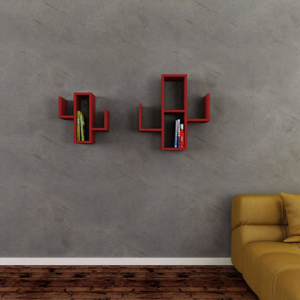 Cactuses Wall Unit-Red-Modern Furniture Deals