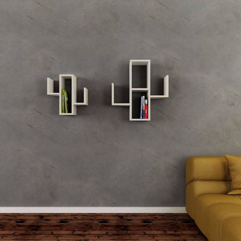 Cactuses Wall Unit-White-Modern Furniture Deals