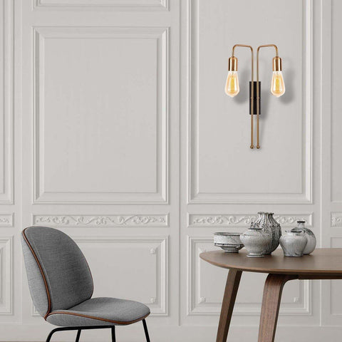 CANDLE Gold Wall Light Duo-Modern Furniture Deals