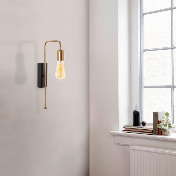 CANDLE Gold Wall Light Single-Modern Furniture Deals