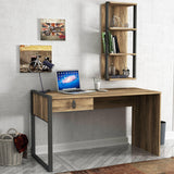 CARLOS Desk With Shelf- Walnut-FURNITURE>DESKS>DESK SETS-[sale]-[design]-[modern]-Modern Furniture Deals