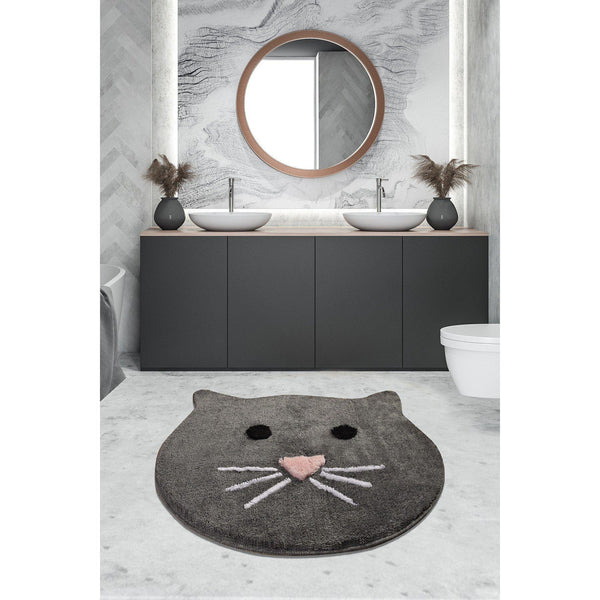 Cat - Anthracite Bath Mat-Bath Mat-[sale]-[design]-[modern]-Modern Furniture Deals