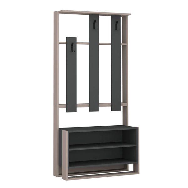 Chester Hall Stand-L.Mocha-A.Grey-Modern Furniture Deals