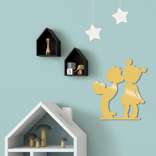 CHILDREN METAL DECOR - GOLD Wall Art-Metal Wall Art-[sale]-[design]-[modern]-Modern Furniture Deals