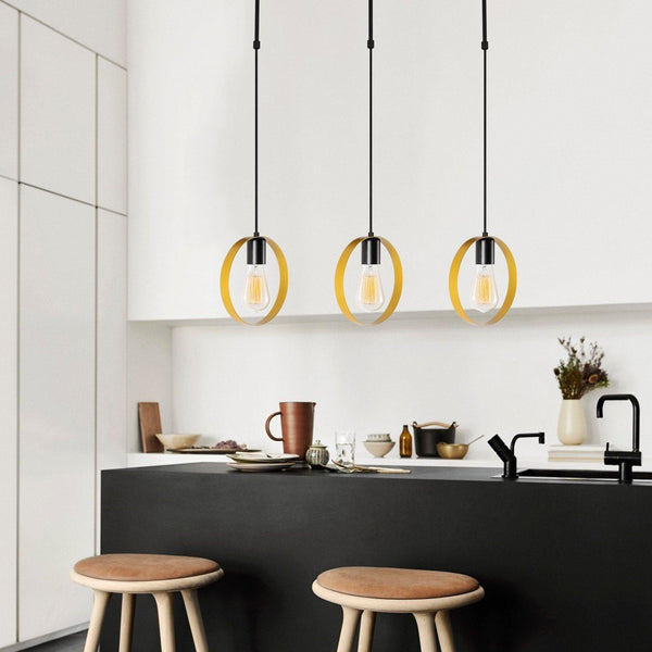 CIRCLE 3 Pendulum Ceiling Light Gold, Black-Modern Furniture Deals