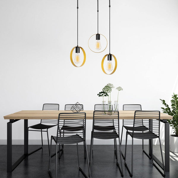 CIRCLE 3 Pendulum Ceiling Light Gold, Black Round-Modern Furniture Deals