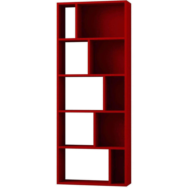 Compact Bookcase-Burgundy-Modern Furniture Deals