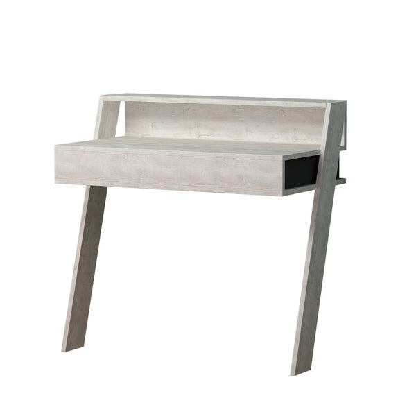 Compact Wall Desk-A.White-A.Grey-Modern Furniture Deals