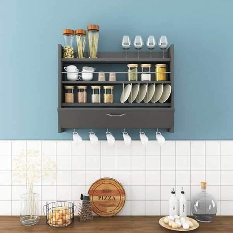 Corte B One Door Kitchen Rack-White-Modern Furniture Deals