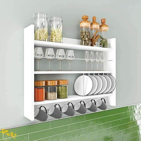 Corte Kitchen Shelf-White-Modern Furniture Deals