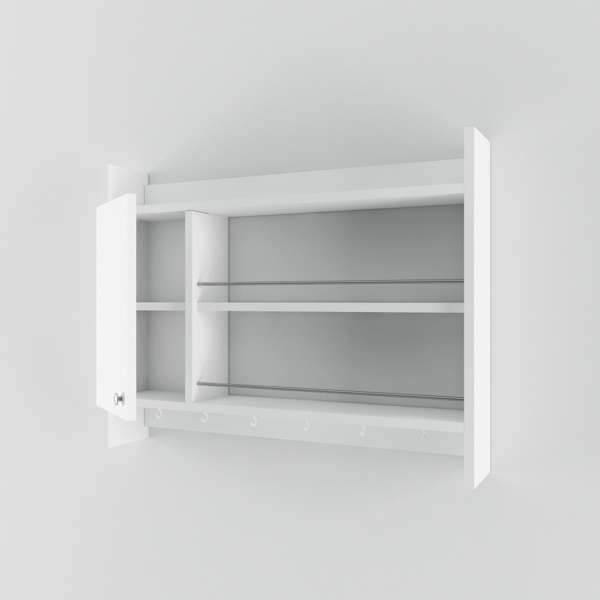 Corte One Door Kitchen Rack-White-Modern Furniture Deals