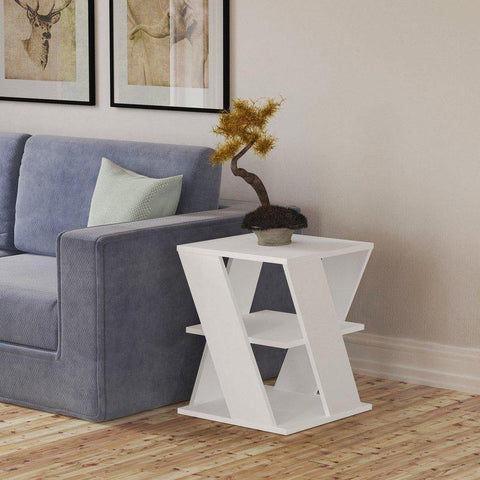 Cross Table-White-Modern Furniture Deals