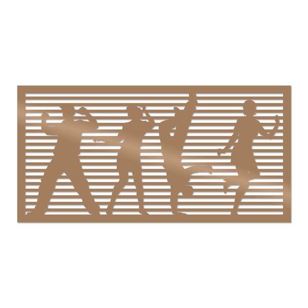 DANCEWOMAN 3 - COPPER Wall Art-Metal Wall Art-[sale]-[design]-[modern]-Modern Furniture Deals