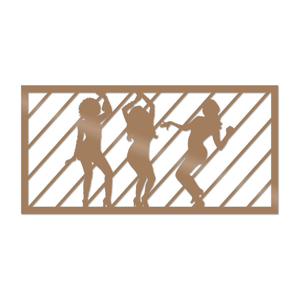 DANCEWOMAN 4 - COPPER Wall Art-Metal Wall Art-[sale]-[design]-[modern]-Modern Furniture Deals