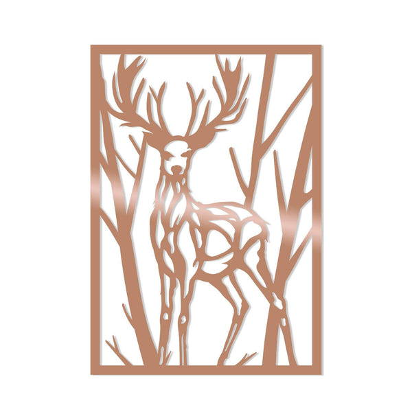 DEER - COPPER Wall Art-Metal Wall Art-[sale]-[design]-[modern]-Modern Furniture Deals