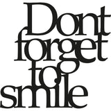 DONT FORGET TO SMILE Wall Art-Metal Wall Art-[sale]-[design]-[modern]-Modern Furniture Deals