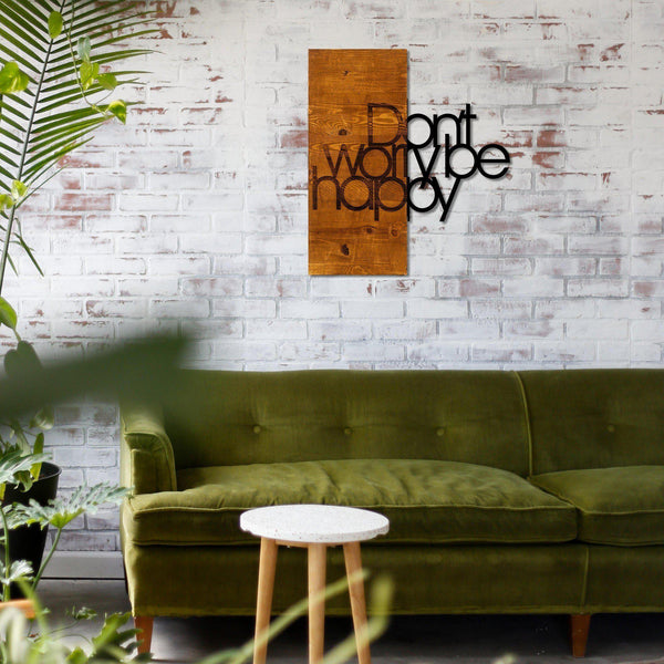 Dont Wory Be Happy Wall Art-Metal Wall Art-[sale]-[design]-[modern]-Modern Furniture Deals