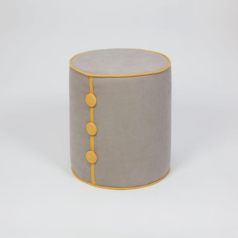 Dots Pouffe Cream Mustard-FURNITURE>POUFFES-[sale]-[design]-[modern]-Modern Furniture Deals