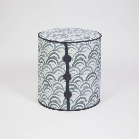 Dots Waves Pouffe-FURNITURE>POUFFES-[sale]-[design]-[modern]-Modern Furniture Deals