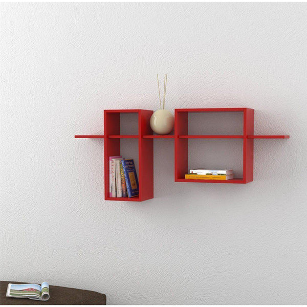 Eclipse Wall Shelf-Red-Modern Furniture Deals