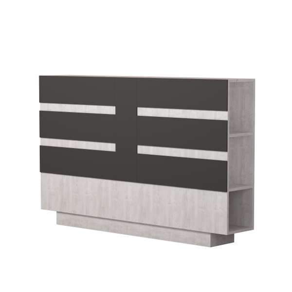 Edo Design Storage Headboard-A.White-Anthracite-Modern Furniture Deals