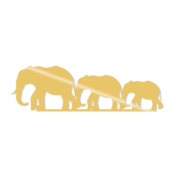 ELEPHANTS METAL DECOR - GOLD Wall Art-Metal Wall Art-[sale]-[design]-[modern]-Modern Furniture Deals