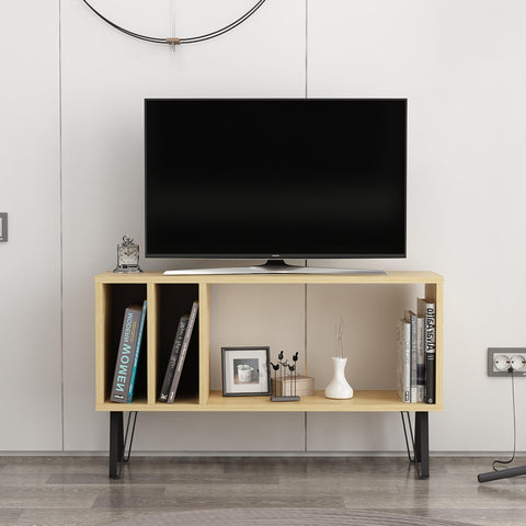 EMIL Tv Stand Oak - Anthracite-FURNITURE>TV STANDS>TV STAND-[sale]-[design]-[modern]-Modern Furniture Deals