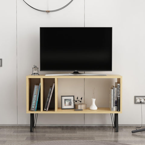 EMIL Tv Stand Oak - White-FURNITURE>TV STANDS>TV STAND-[sale]-[design]-[modern]-Modern Furniture Deals