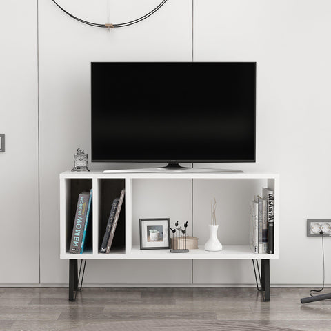 EMIL Tv Stand White - Dark Coffee-FURNITURE>TV STANDS>TV STAND-[sale]-[design]-[modern]-Modern Furniture Deals