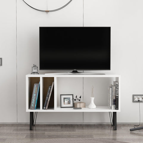 EMIL Tv Stand White - Oak-FURNITURE>TV STANDS>TV STAND-[sale]-[design]-[modern]-Modern Furniture Deals