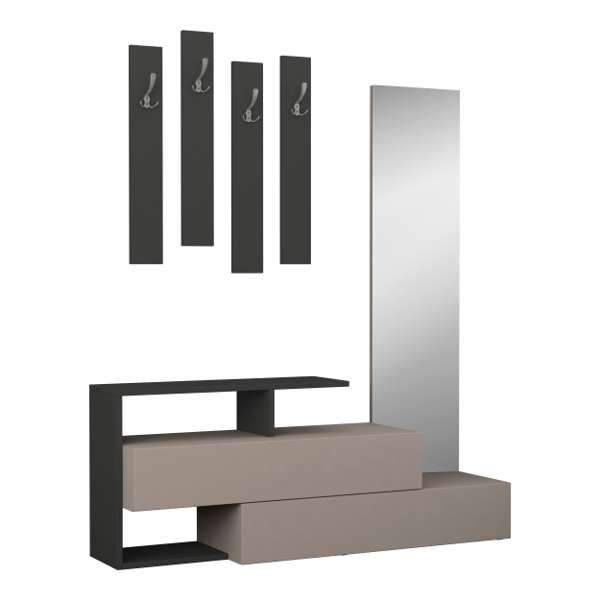 Featured Hall Stand-L.Mocha-A.Grey-Modern Furniture Deals